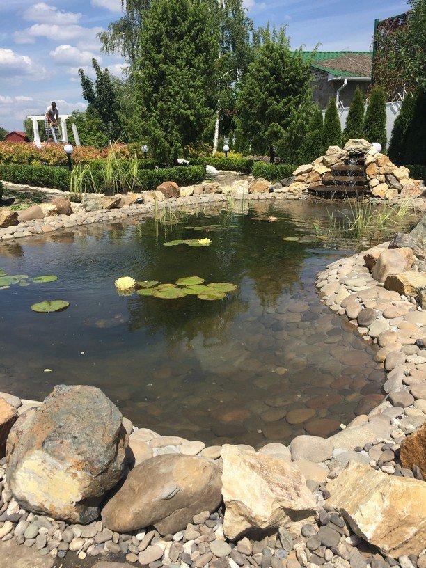 Пруд с водопадом в вашем саду - Наши Работы - КиевСад