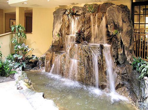 Как сделать декоративный водопад своими руками видео
