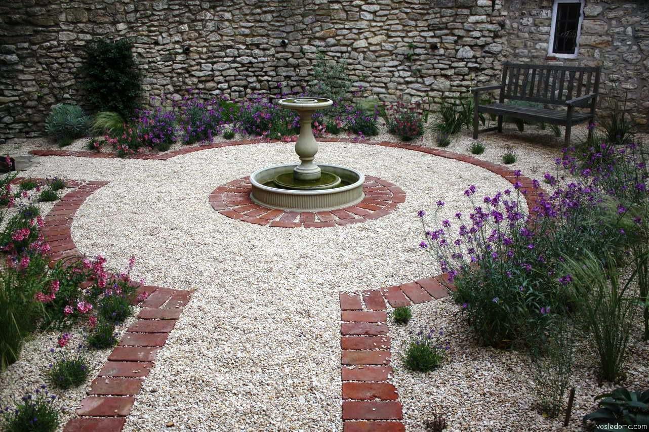 Гравийный сад в дизайне сада