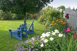 Красивый сад. Ярусы в саду.