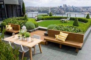 Интенсивный сад на крыше