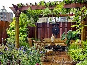 компактный сад на крыше