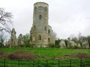 Готические руины. Поместье в Англии