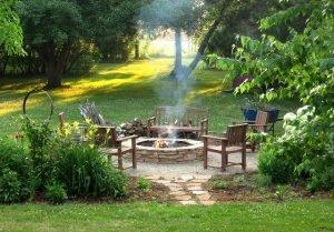 очаг в саду