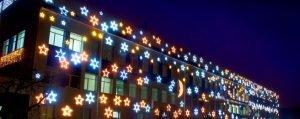 светодинамические установки на фасаде
