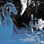 Ледовые и снежные скульптуры.