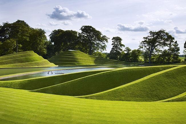 Клетки жизни в парке скульптур Jupiter Artland в Эдинбурге
