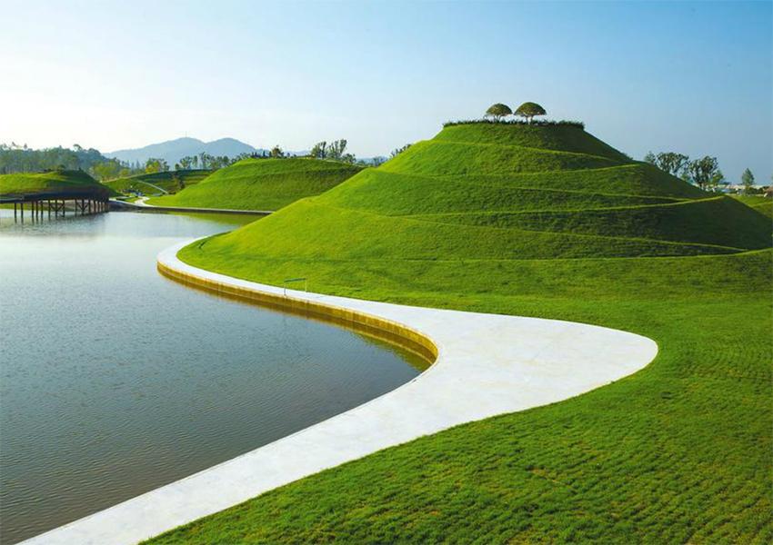 Озерный сад в заливе Сунчхон.
